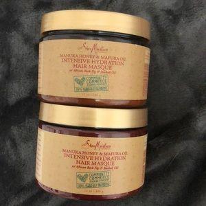 2 Shea Moisture Manuka Honey & Marfura Hair Masks